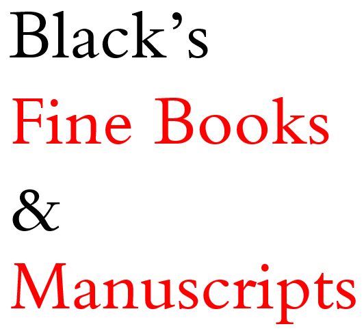 Black's Fine Books & Manuscripts
