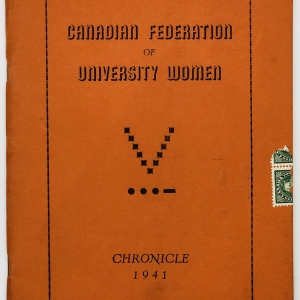 Canadian Federation of University Women; Chronicle 1941
