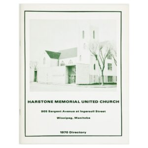 Harstone Memorial United Church, 1970 Directory