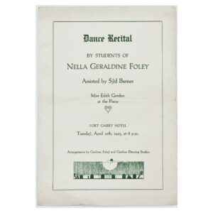 [Programme of a] Dance Recital by Students of Nella Geraldine Foley